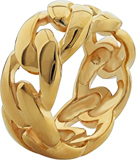 silver cuban link ring