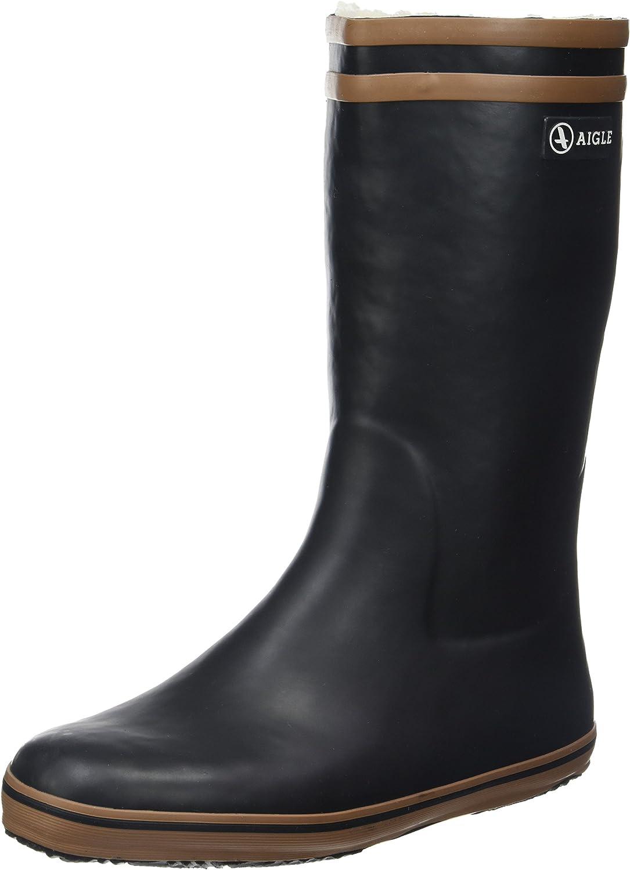 Aigle Women's Fur-Lined Wellington Boots Camel Noir Quality inspection Kansas City Mall