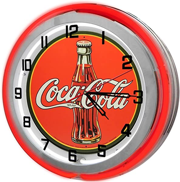 Vintage Coca Cola 18 Red Double Neon Clock From Redeye Laserworks