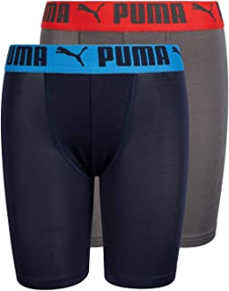 PUMA Boys' Long Leg Performance Boxer Brief