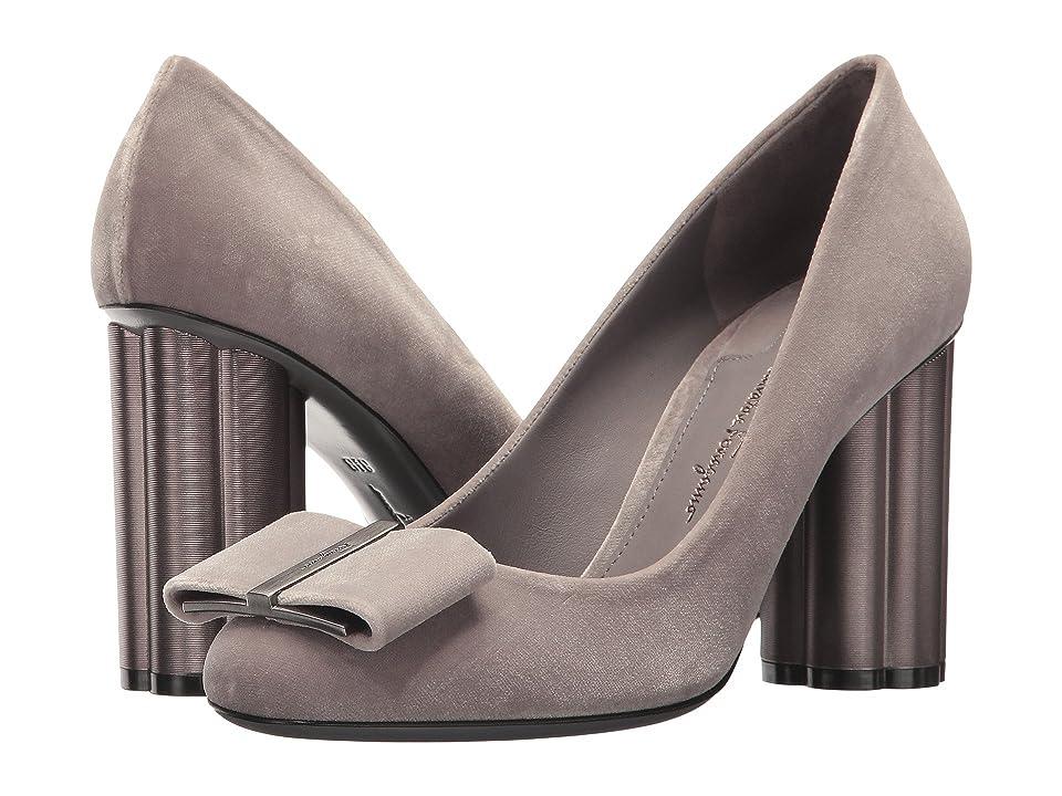 Salvatore Ferragamo Capua85T (Urban Grey/Pale Grey) High Heels