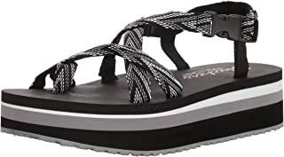 Skechers Whippit-Glastonbury-Toe-Thong 女士露跟防水台凉鞋