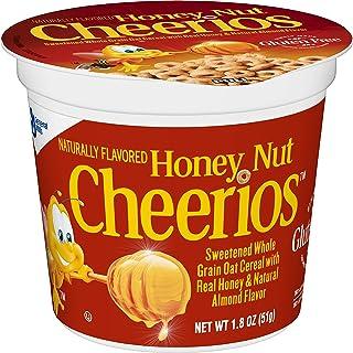 蜂蜜ナット穀物チェリオス カップ、1.8 オンス、12 パック Honey Nut Cheerios Cereal Cup, 1.8 oz, 12 Pack