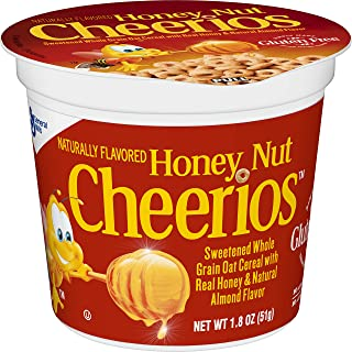 Honey Nut Cheerios Cups, Cereal with Oats, Gluten Free, 1.8 oz, 12 Cups