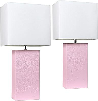 Amazon.com: Elegant Designs Periwinkle - Juego de 2 lámparas ...