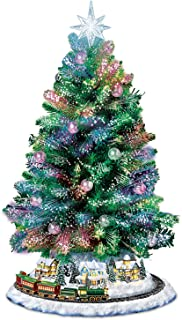 Bradford Exchange Holiday Sparkle Color-Changing Fiber-Optic Tabletop Christmas Tree by The