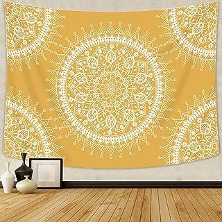 Arfbear Bohemian Tapestry, Mandala Hippie Popular Wall Hanging Tapestry Warm Golden..