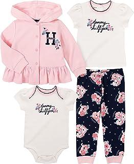 baby-girls 3 Pieces Jacket Pants Set