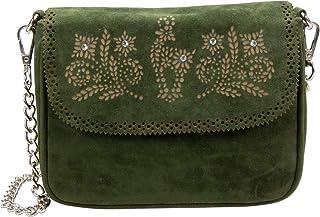 Alpenflüstern Trachtentasche Steinbock mit Verzierung in traditionellen Farben DTA081