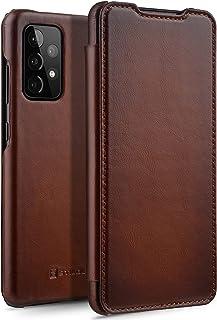 StilGut Boekenhoes compatibel met Samsung Galaxy A52 & A52 5G hoes van leer om te klappen, klaphoes, telefoonhoes, leren h...