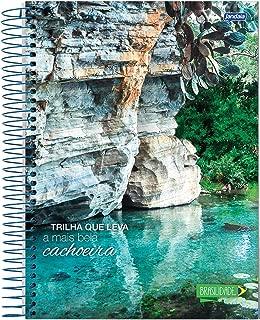 Caderno de 15 Matérias Capa Dura, Jandaia 8147, Multicor, 2 unidades
