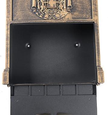 DNYSYSJ European Retro Mailbox Vintage Wall Mount Locking Letter Box 2 Keys Home&Garden Decor 41025590mm