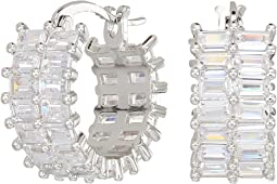 Nina - Small Baguette Hoop Earrings