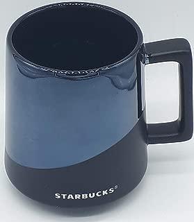 Starbucks Reactive Black Half Matte Half Glossy Mug 14 oz