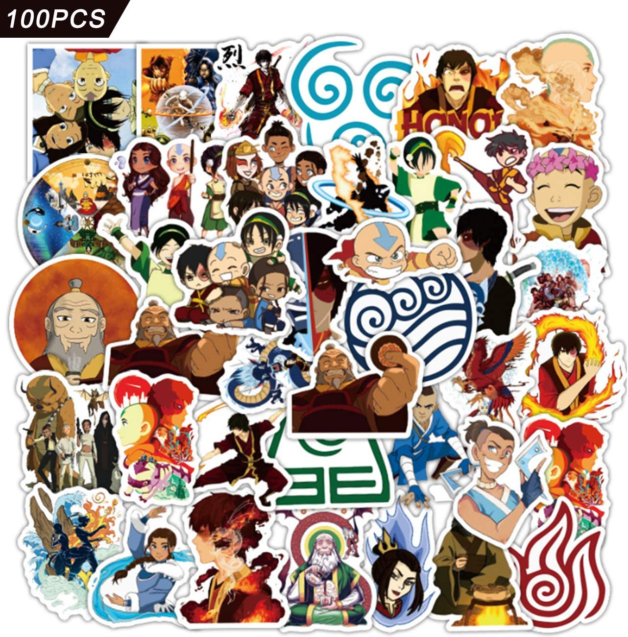 Avatar The Last Airbender Stickers 100pcs Manufacturer Directly managed store regenerated product Movie Lnight