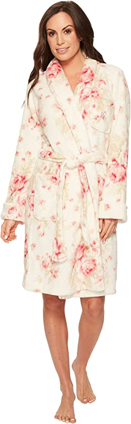 LAUREN Ralph Lauren - Folded So Soft Short Shawl Collar Robe