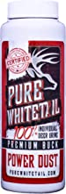 Pure Whitetail Power Dust – Buck - Fresh 100% Pure Mock Scrape Attractant and Calming Cover Scent Powder Infused with One Individual Buck Urine