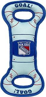 NHL New York Rangers Hockey Field Dog Tug Fetch Squeak Chew Toy
