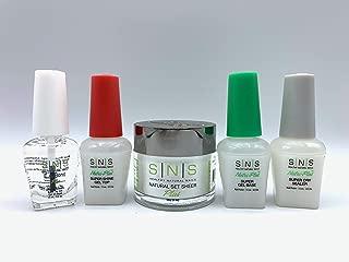 SNS Gel Base Top EA Bond Sealer Dry Coat Natural Healthy Plus Set for Do It Yourself Home Nails Starter Kit Dipping Powder Gelous (Natural Set Sheer)