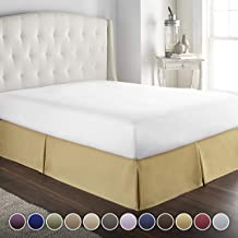 Hotel Luxury Bed Skirt/Dust Ruffle 1800 Platinum Collection-14 inch Tailored Drop, Wrinkle & Fade Resistant, Linens (Queen, Camel)