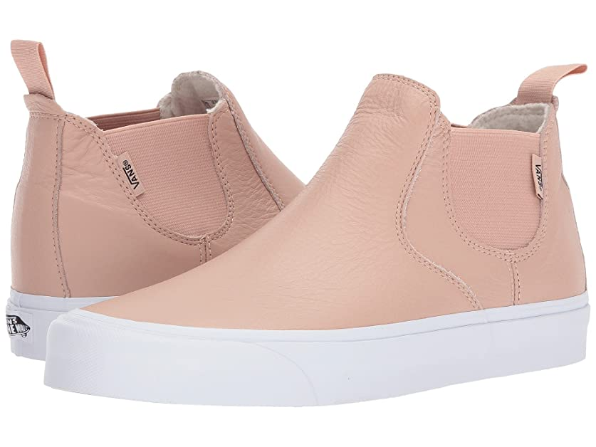 一致夕食を食べる実際に(バンズ) VANS メンズスニーカー?靴 Classic Slip-On Mid DX (Leather) Mahogany Rose/True White Men's 9, Women's 10.5 (27cm(レディース27.5cm)) Medium