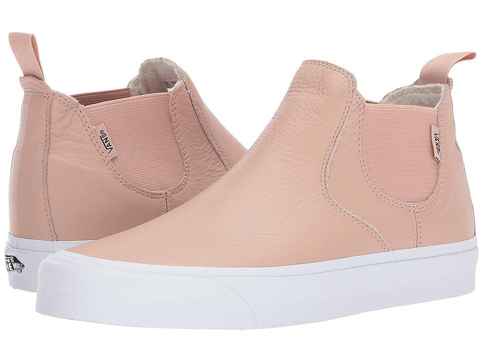 迷惑独特の偽物(バンズ) VANS メンズスニーカー?靴 Classic Slip-On Mid DX (Leather) Mahogany Rose/True White Men's 8.5, Women's 10 (26.5cm(レディース27cm)) Medium
