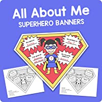 All About Me – Superhero Banners –First Day of School Icebreaker Activity