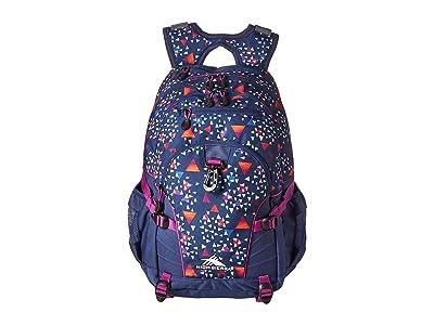 High Sierra Loop Backpack (Triangle Party/Tru Navy/Hyacin) Backpack Bags