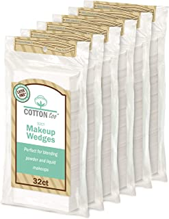 Cotton Too Premium 32 Piece Latex-free Cosmetic Wedges, 6 Count