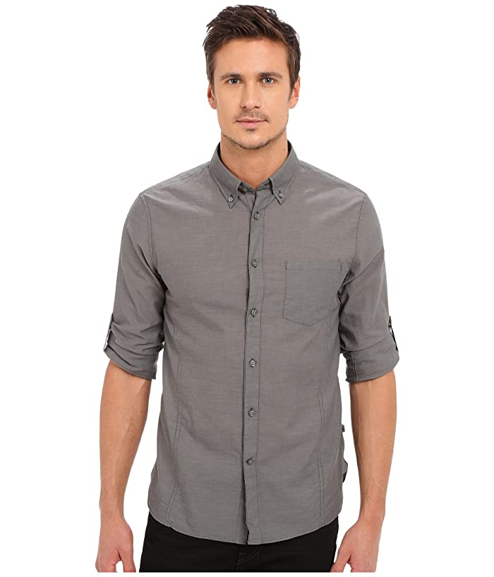 John Varvatos Star U S A Roll Up Sleeve Shirt W Button Down Collar Single Pocket