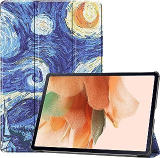 جراب FTRONGRT لجهاز Samsung Galaxy Tab S7 FE Tablet خفيف الوزن وقوي، جراب من جلد البولي يوريثان عالي الجودة لهاتف Samsung ...