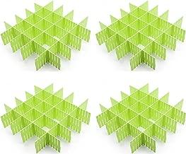 CROING 32 pcs Green Drawer Dividers, Drawer Organizer, Drawer Separators