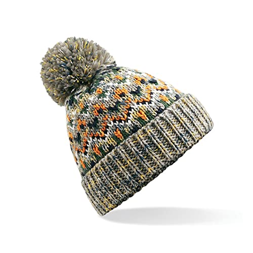 4d735b24963 Beechfield Unisex Adults Blizzard Winter Bobble Hat