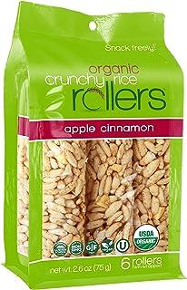 Sponsored Ad - Crunchy Rice Rollers - Organic Snacks - Gluten Free - Allergy Friendly - Apple Cinnamon (4 Packs of 6 Rollers)