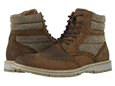 Stacy Adams Granger Wing Tip Lace Boot (Brown Crazy Horse) Men