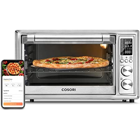 COSORI Air Fryer Toaster Oven Combo 30L, 12 Functions Smart Large Countertop Oven, 100 Recipes & 6 Accessories Included, Work with Alexa, WIFI-Sliver