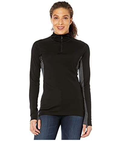 Smartwool Merino Sport 250 Long Sleeve 1/4 Zip (Black) Women