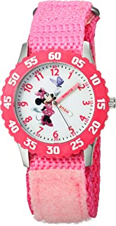 Girls' W000025 Minnie Mouse Watch with Pink Nylon Band