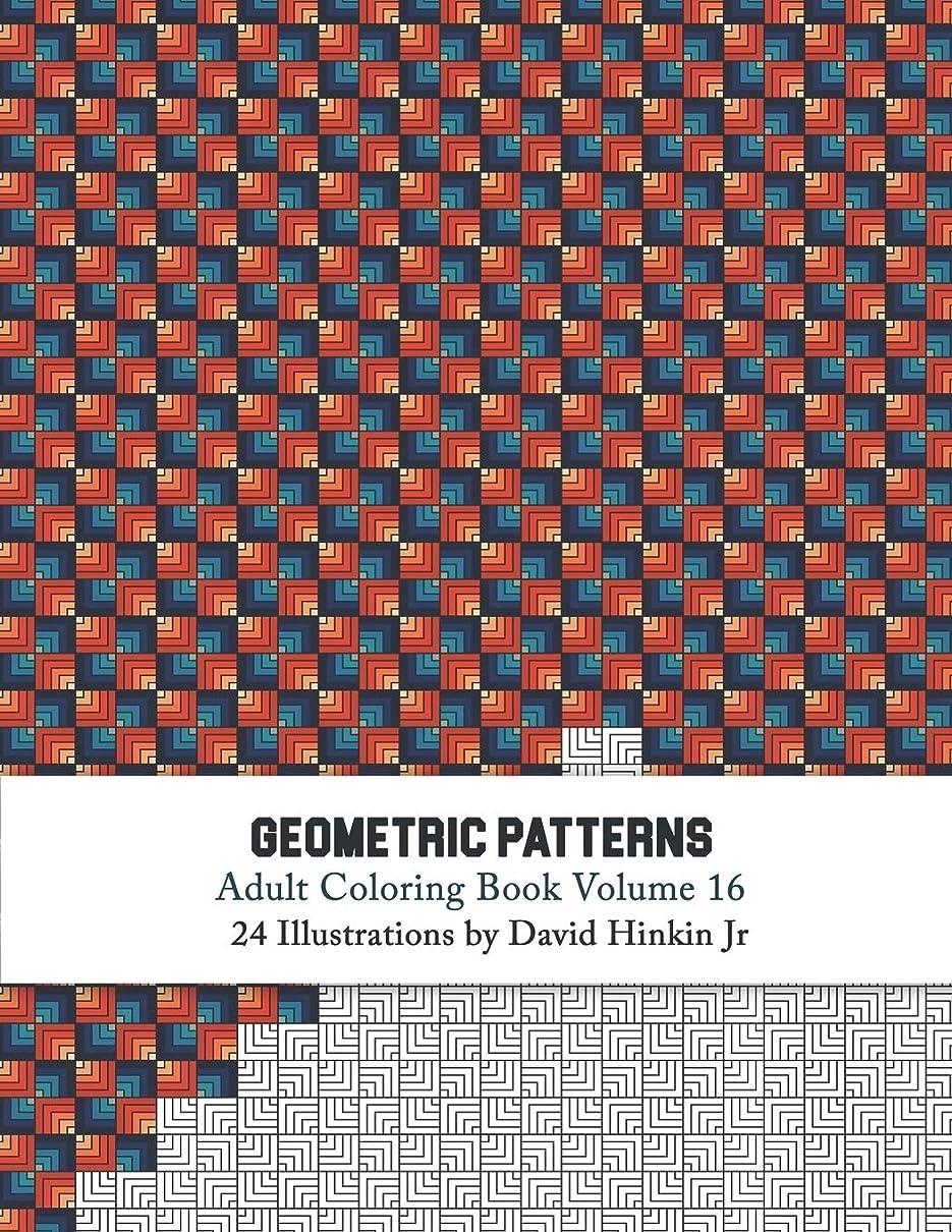 オプショナルおとこ飾り羽Geometric Patterns - Adult Coloring Book Vol. 16