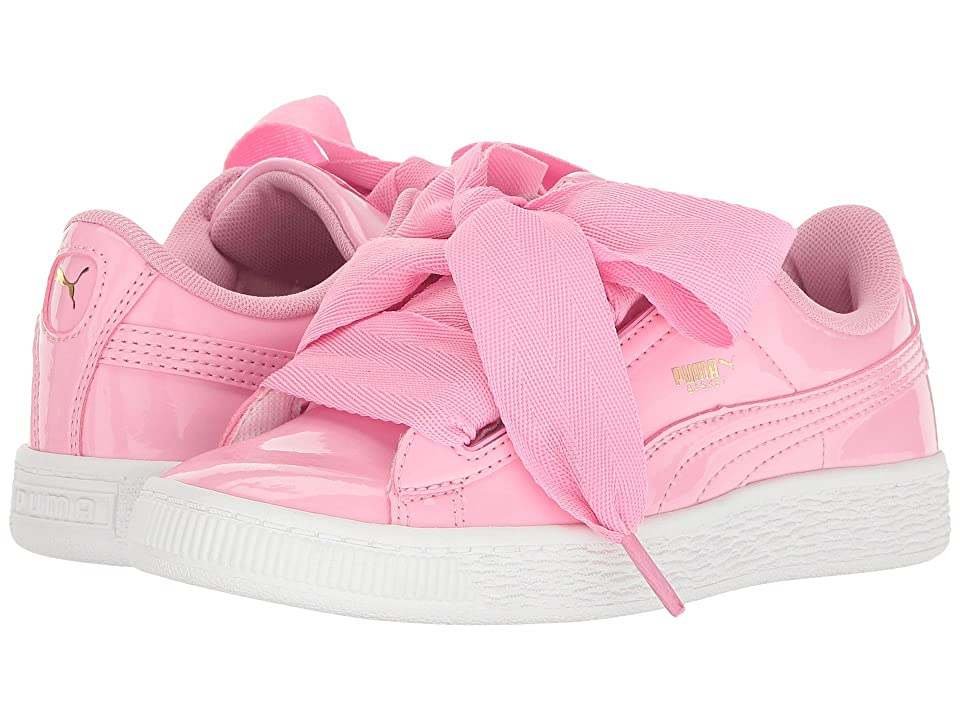 Puma Kids Basket Heart Patent (Little Kid/Big Kid) (Prism Pink/Prism Pink) Girl