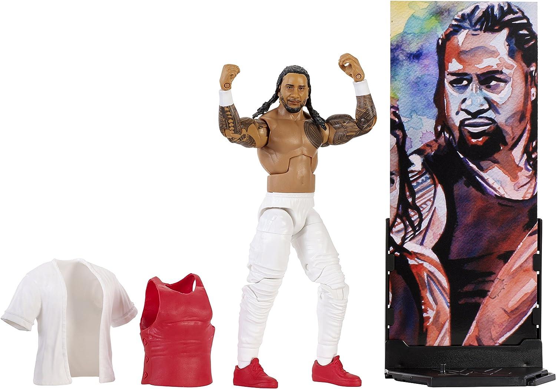 Mattel FMG27 WWE Jimmy Uso 15 cm Elite Figur, Spielzeug Actionfiguren ab 6 Jahren