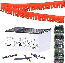 Partituki 30 Estuches Infantiles para Colorear, 30 Sets de 5 Ceras de Colores y una Guirnalda (Color Aleatorio) de 20 m. Detalle Ideal para Regalos de Fiestas de Cumpleaños Infantiles