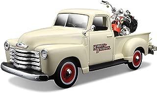 Maisto Harley-Davidson 2001 FLSTS Heritage Springer & 1950 Chevy 3100 Diecast Vehicle (1:24 Scale)