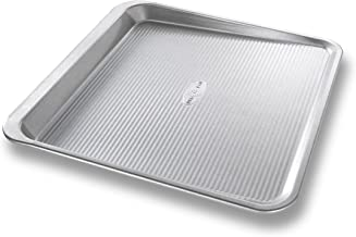 USA Pan Bakeware Easy Slide Non Stick Cookie Sheet Pan, Medium, Silver