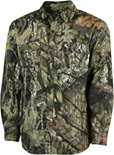 Mossy Oak Camo Ultralight Long Sleeve Hunting Shirt for Men