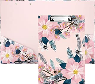 Porte Bloc A4 Avec Pince Planchettes à Pince, Porte Document A4 Avec Clip à Profil Bas,Porte Bloc Format A4 Pour Bureau, S...