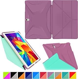 rooCASE Samsung Galaxy Tab S 10.5 Case - Origami 3D [Radiant Orchid/Mint Candy] Slim Shell 10.5-Inch Smart Cover