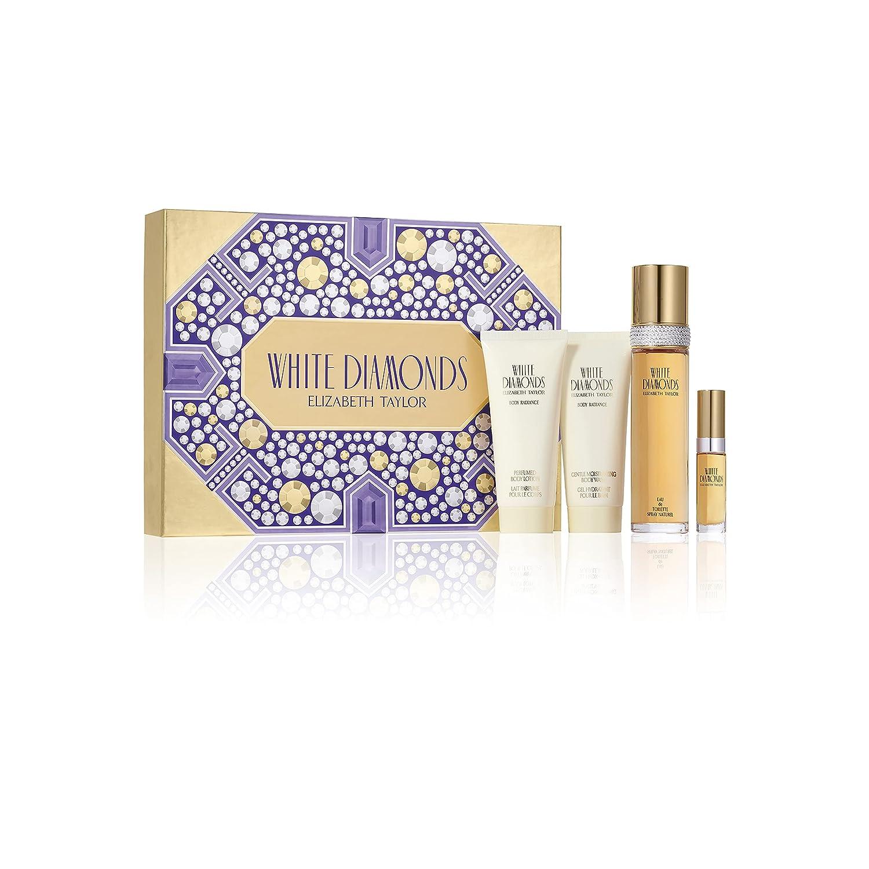 Elizabeth Taylor White Diamonds Phoenix Mall Women's Max 86% OFF Gift 4 Piece Fragrance S
