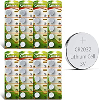 GutAlkaLi CR2032 Lithium 3V Battery, Electronic Coin Cell Button for Toys Calculators Watches(40 Pcs)