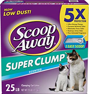 Scoop Away Super Clump with Ammonia Shield, Scented Cat Litter, 25 lbs